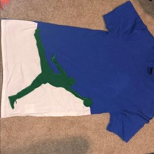 Air Jordan blue and green shirt Men's Small
